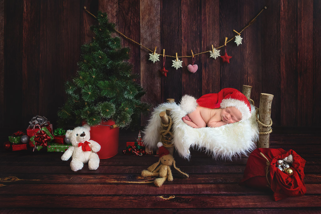Christmas Newborn Digital Backdrops